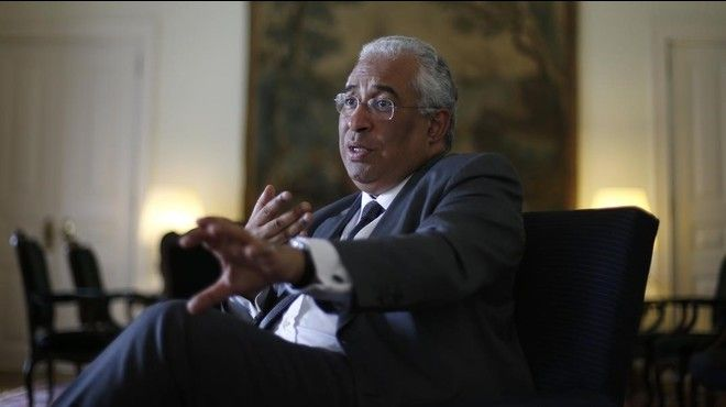 Portugal s Prime Minister Antonio Costa reacts during an interview with Reuters in Lisbon  Portugal January 22  2016  REUTERS Rafael Marchante
