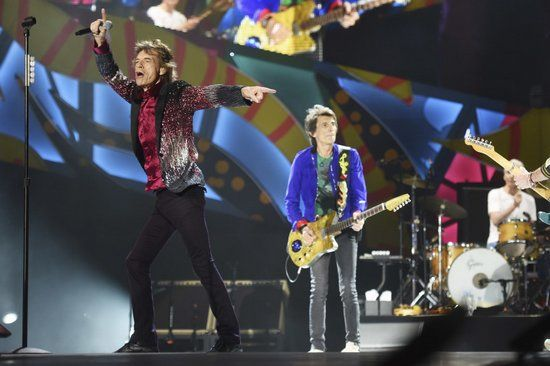 HAVANA, CUBA - MARCH 25:  The Rolling Stones perform on stage during The Rolling Stones concert at Ciudad Deportiva on March 25, 2016 in Havana, Cuba.    Pic. Credit: Dave J Hogan